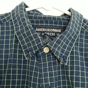 Abercrombie & Fitch blue & light yellow long shirt